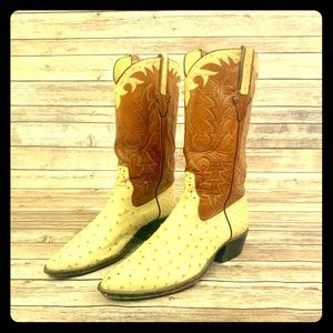 Rios Of Mercedes full quill ostrich boots size 12